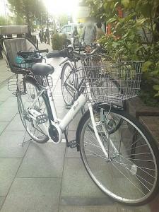 I went to shinyokohama by bicycle