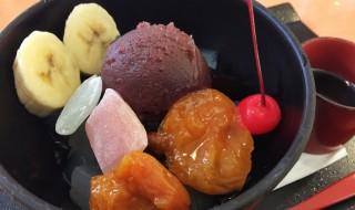 Anmitsu at Fujiya restaurant in Japan