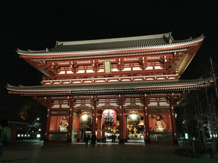 Senso-ji temple in the night