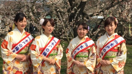 Ume ambassador2015 in Mito city