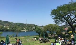 Barbecue at Tsukui lake in Japan