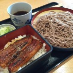 broiled eel and Soba