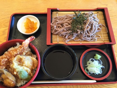 Tempura bowl and Soba set meal