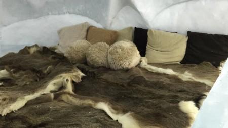 Ice hotel of Hoshino resort Tomamu in Hokkaido.