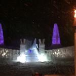 Ice chapel of Hoshino resort Tomamu in Hokkaido.