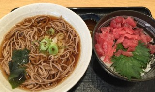 Tuna bowl and soba