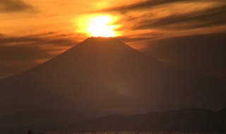 Diamond Fuji in Enoshima island