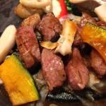 Beef steak & grilled vegetable set meal at Ootoya