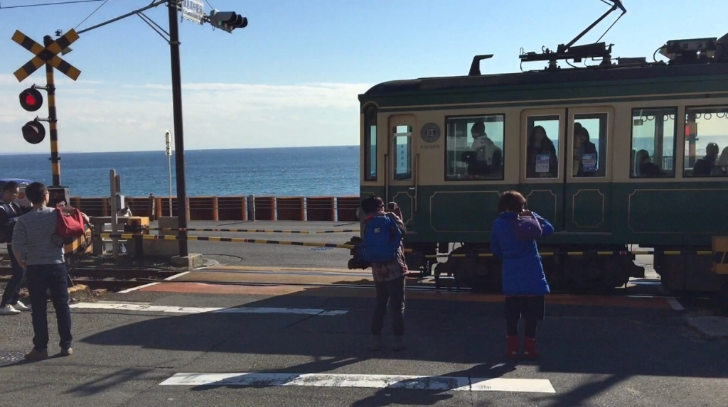 Popuar railway crossing in Japan 【江之電】鎌倉高校前站,灌籃高手場景