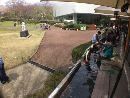 Foot spa in Hakone open air museum