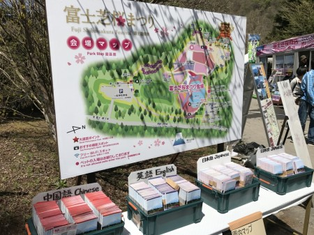 Free maps in Fuji Shibazakura festival