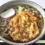 Soba topped with Tempura