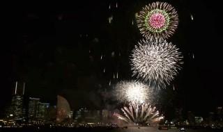 fireworks of Yokohama Kaikosai festival