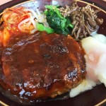 Bibimbap & Hamburg steak at Denny's