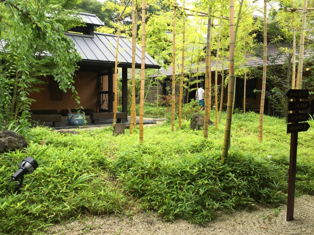 Wonderful Onsen in the forest in Hakone