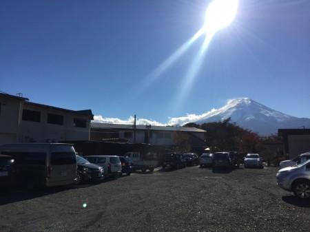 Ikemoto parking lot in Oshino Hakkai