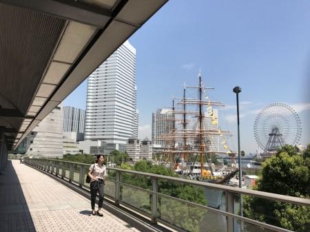 Moving walkway at Sakuragicho station
