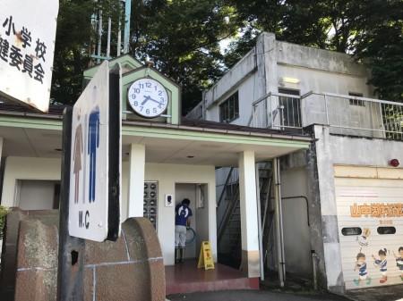 Public lavatory of Nagaike Shinsui Park at Lake Yamanaka
