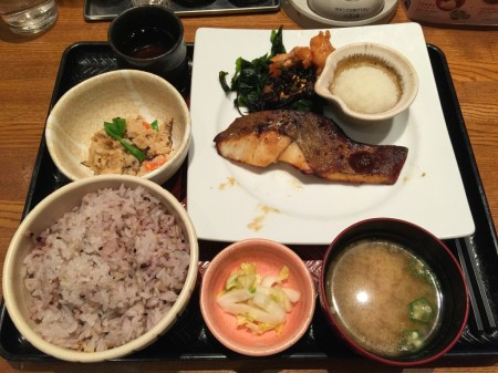 Charcoal grilled red snapper meal set in Ootoya