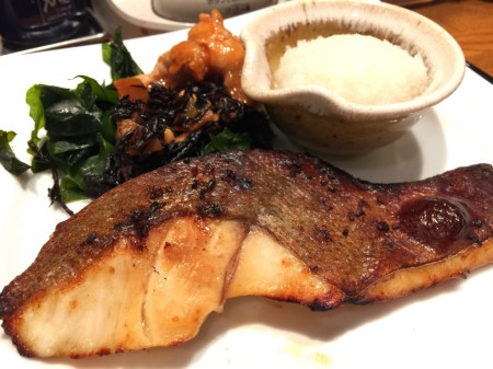 Charcoal grilled red snapper in Ootoya