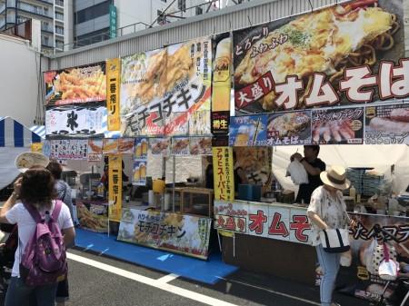 Street stalls at Hiratsuka Tanabata Festival