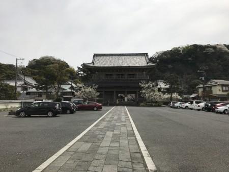 Free parking lot at Komyoji temple in Kamakura
