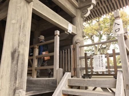 Entrance of Sanmon gate at Komyoji temple in Kamakura