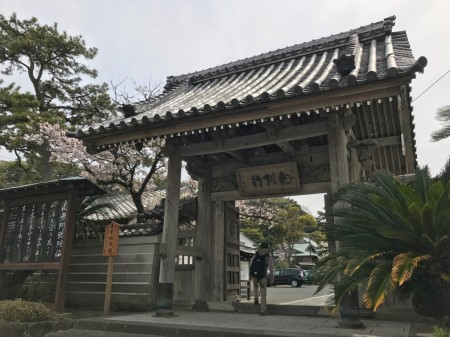 Somon(the main gate) of Komyoji temple in Kamakura