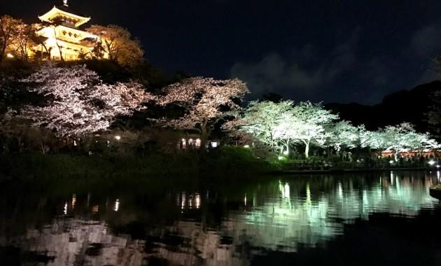 Three-Story Pagoda from Kankatei Arbor of Sankeien garden