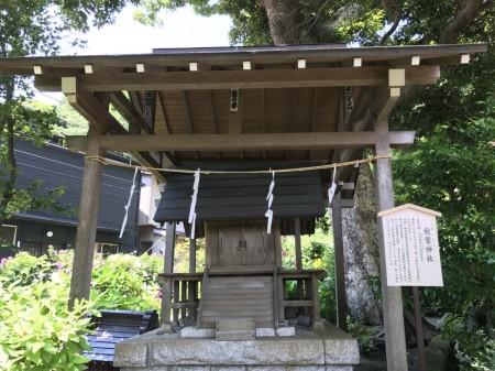 Akiba jinja shrine at Goryo Jinja shrine in Kamakura