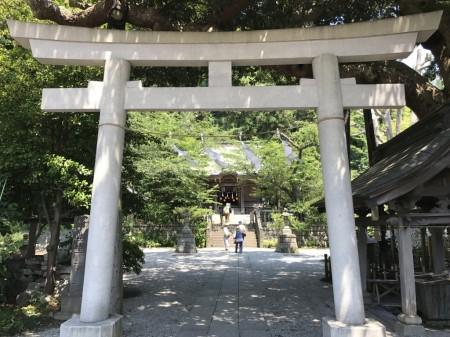 Torii gate at Goryo Jinja shrine in Kamakura