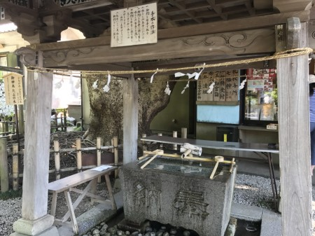 Temizusha at Goryo Jinja shrine in Kamakura