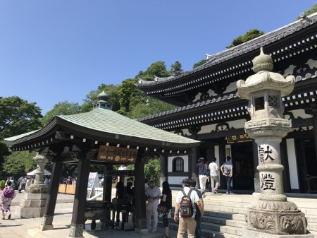 Kannon-do hall at Hase Temple in Kamakura