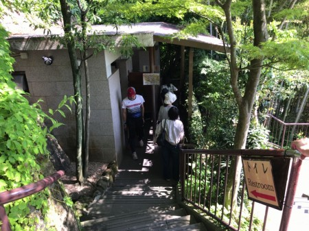 Public lavatory at Hase Temple in Kamakura