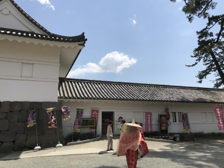 Cosplay at Tokiwagi gate in Odawara castle