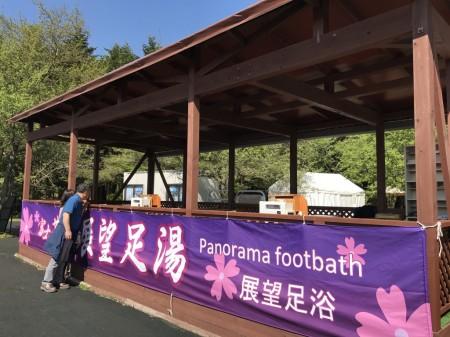 foot bath in Fuji Shibazakura festival