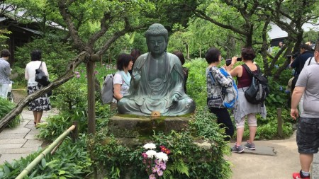 Buddha statue at Tokeiji temple in Kamakura