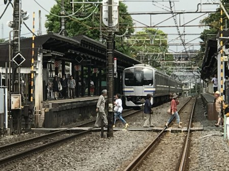 Yokosuka line at Kita Kamakura station