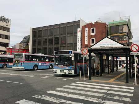 Bus terminal of Kamakura Station