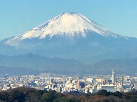 Mount Fuji from Shojoken Observatory in Kamakura