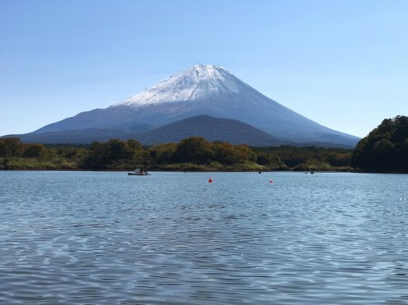 Mount Fuji at the lake Shojiko