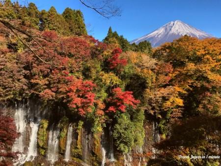 Shiraito Falls and Mt.Fuji