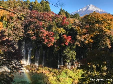 Shiraito Falls and Mt.Fuji
