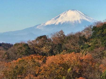 Mt.Fuji from Fujimi observatory of Hansobo in Kenchoji temple