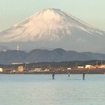Mount Fuji from Chigasaki Head Land Beach