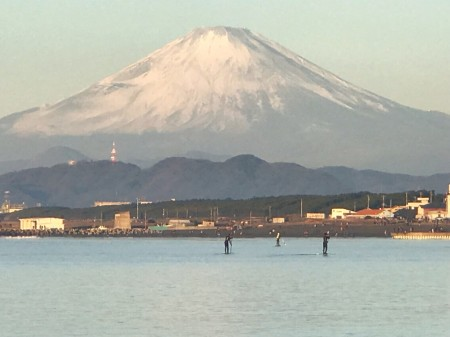 Mount Fuji from Chigasaki Head Land Beach