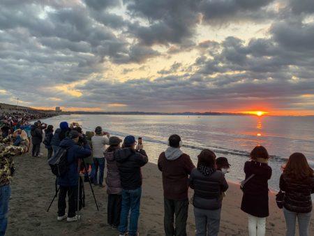 First sunrise of 2019 at Chigasaki Head Land Beach