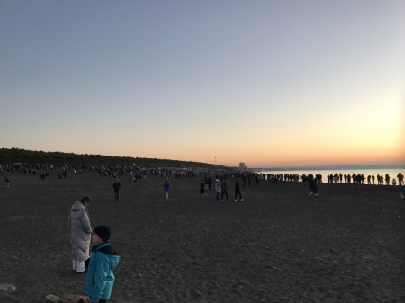 First sunrise of the year at Chigasaki Head Land Beach