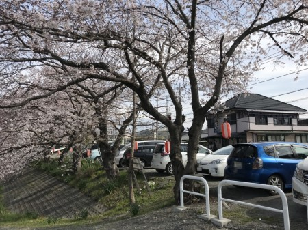 Free parking lot in Ryuganbuchi