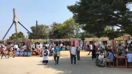 Food stalls in Hitachi Seaside Park
